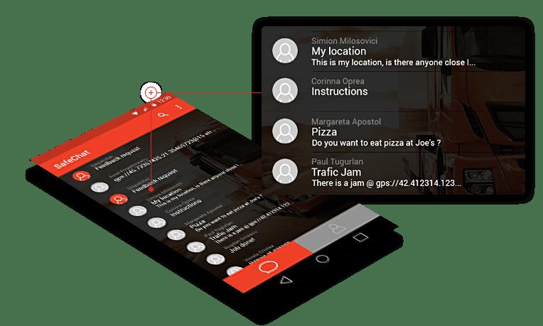 SafeChat comunicare dispecerat-soferi